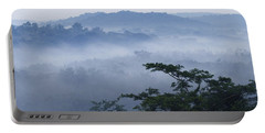 Mist Over Tropical Rainforest Kibale Np Portable Battery Charger