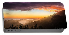 Mist Rising At Dusk Portable Battery Charger