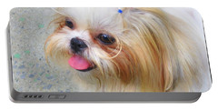 Portable Battery Charger featuring the photograph Misty by Dora Sofia Caputo Photographic Art and Design