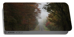 Misty Fall Morning Portable Battery Charger