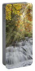 Misty Falls At Coker Creek Portable Battery Charger