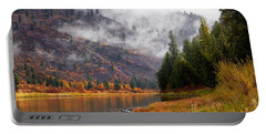 Misty Montana Morning Portable Battery Charger