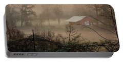 Misty Morn And Horse Portable Battery Charger by Kathy Barney