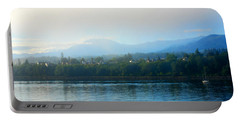Portable Battery Charger featuring the photograph Misty Morning In Port Angeles by Connie Fox