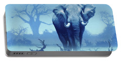 Misty Blue Morning In The Tsavo Portable Battery Charger
