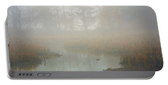 Portable Battery Charger featuring the photograph Misty Morning by Jordan Blackstone