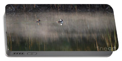 Misty Morning Mergansers Portable Battery Charger