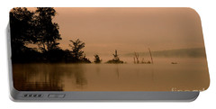 Misty Morning Solitude  Portable Battery Charger