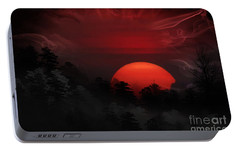 Portable Battery Charger featuring the photograph Misty Mountain Sunrise by Kathy Baccari