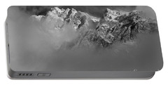 Misty Mountains In Mono Portable Battery Charger