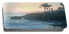 Misty Santa Cruz Portable Battery Charger by Art Block Collections