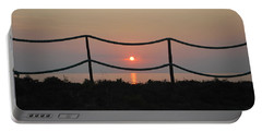 Misty Sunset 1 Portable Battery Charger by George Katechis