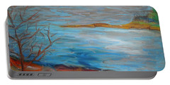 Portable Battery Charger featuring the painting Misty Surry by Francine Frank