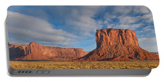 Portable Battery Charger featuring the photograph Mitchell Butte And Gray Whiskers In The Evening Light by Jeff Goulden