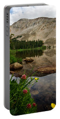 Mitchell Lake Reflections Portable Battery Charger by Ronda Kimbrow