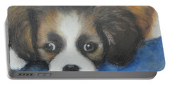 Portable Battery Charger featuring the painting Mitzy by Jeanne Fischer