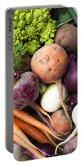Mixed Veg Portable Battery Charger by Anne Gilbert