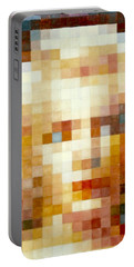 Portable Battery Charger featuring the painting Marylin by Henryk Gorecki