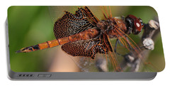 Mocha And Cream Dragonfly Profile Portable Battery Charger by Kenny Glotfelty