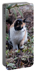 Mochi In The Garden Portable Battery Charger by Laura Melis