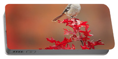 Mockingbird Autumn Square Portable Battery Charger by Bill Wakeley