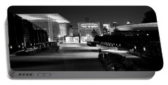 Modern Architecture Night Black White Portable Battery Charger