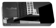 Modern Art Deco Architecture Black White Portable Battery Charger