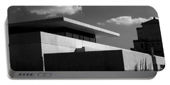 Modern Concrete Architecture Clouds Black White Portable Battery Charger
