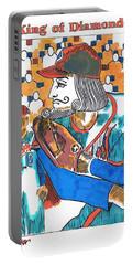 Modern King O' Diamonds Portable Battery Charger by Seth Weaver
