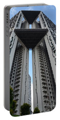 Portable Battery Charger featuring the photograph Modern Skyscraper Apartment Building Singapore by Imran Ahmed