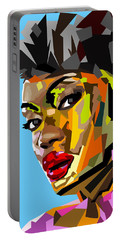Portable Battery Charger featuring the digital art Modern Woman by Anthony Mwangi