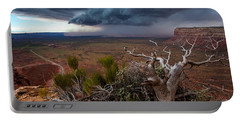 Moki Dugway Thunderstorm - Southern Utah Portable Battery Charger