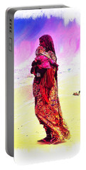 Mom And Child Desert India Portable Battery Charger