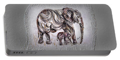 Mom Elephant Portable Battery Charger by Harsh Malik