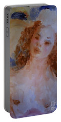 Portable Battery Charger featuring the painting Mom Near Jupiter by Laurie L