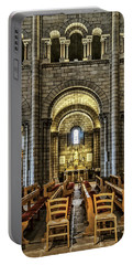 Monaco Cathedral Portable Battery Charger by Maria Coulson