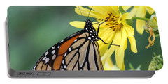 Portable Battery Charger featuring the photograph Monarch Beauty by Doris Potter