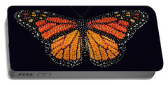 Monarch Butterfly Bedazzled Portable Battery Charger