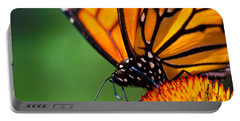Monarch Butterfly Headshot Portable Battery Charger by Bob Orsillo