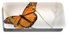 Monarch Butterfly In Flight Portable Battery Charger