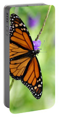 Monarch Butterfly In Spring Portable Battery Charger