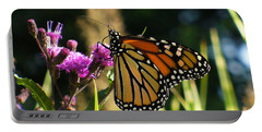 Portable Battery Charger featuring the photograph Monarch Butterfly by Lingfai Leung
