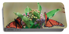 Monarch Gathering Portable Battery Charger by Kerri Farley