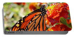 Monarch On Marigold Portable Battery Charger