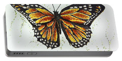 Monarchs - Butterfly Portable Battery Charger by Katharina Filus