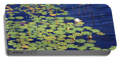 White Water Lilies Portable Battery Charger