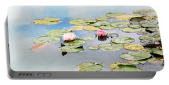 Portable Battery Charger featuring the photograph Monet's Garden by Brooke T Ryan