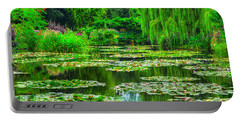 Monet's Lily Pond Portable Battery Charger by Midori Chan
