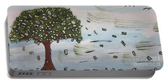 Portable Battery Charger featuring the painting  The Money Tree by Jeffrey Koss