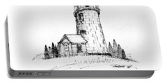 Monhegan Lighthouse 1987 Portable Battery Charger